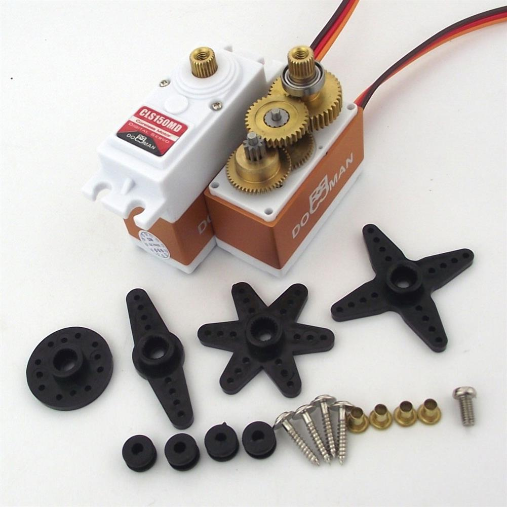 rc-airplane-parts DORCRCMAN DM-CLS150MD 15KG Metal Gears Coreless Digital Servo for RC Airplane Parts HOB1750672