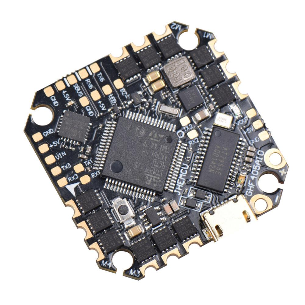 multi-rotor-parts 25.5x25.5mm JHEMCU GHF405AIO F4 OSD Flight Controller w/ 5V BEC Current Sensor Built-in 35A BLheli_S 3-6S 4in1 Brushless ESC for Flyegg Toothpick RC Drone FPV Racing HOB1751034 1