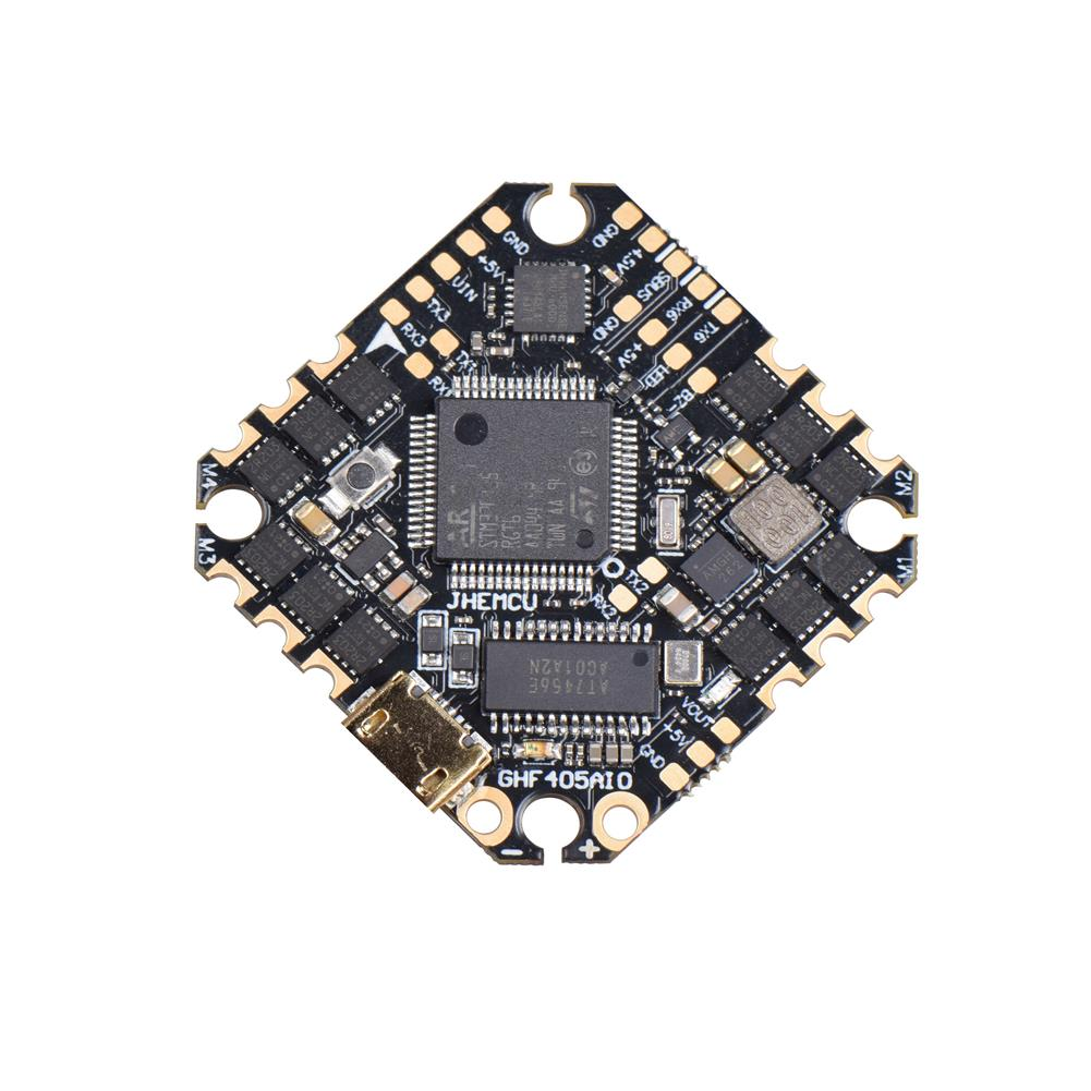 multi-rotor-parts 25.5x25.5mm JHEMCU GHF405AIO F4 OSD Flight Controller w/ 5V BEC Current Sensor Built-in 35A BLheli_S 3-6S 4in1 Brushless ESC for Flyegg Toothpick RC Drone FPV Racing HOB1751034 2