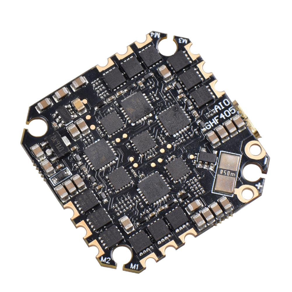 multi-rotor-parts 25.5x25.5mm JHEMCU GHF405AIO F4 OSD Flight Controller w/ 5V BEC Current Sensor Built-in 35A BLheli_S 3-6S 4in1 Brushless ESC for Flyegg Toothpick RC Drone FPV Racing HOB1751034 3