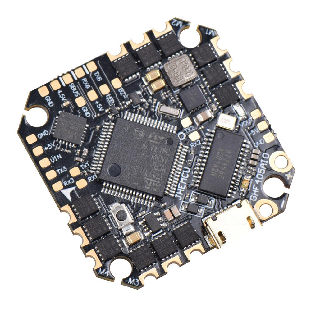 multi-rotor-parts 25.5x25.5mm JHEMCU GHF405AIO F4 OSD Flight Controller w/ 5V BEC Current Sensor Built-in 25A BLheli_S 3-6S Brushless ESC for Flyegg Toothick RC Drone FPV Racing HOB1751125 1