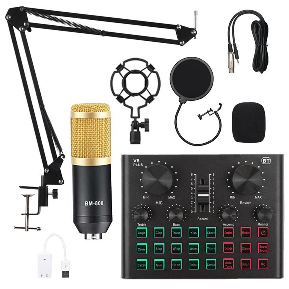 microphones-karaoke-equipment BM800 Pro Condenser Microphone Kit with V8 Plus Muti-functional Bluetooth Sound Card HOB1751310