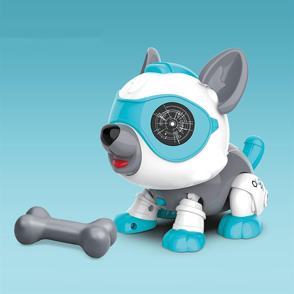 dolls-action-figure DIY Assembly Sound Control Touch Sensing Robot Dog Toy with Light Sound Effect Dog Toddler Toys for Kids Gift HOB1751559 1