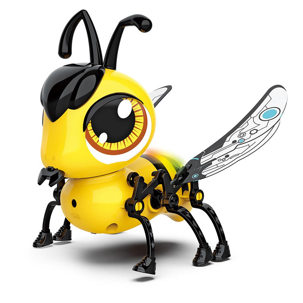 dolls-action-figure DIY Assembly Touch Sensitive Walking USB Charging Bee with Touch Sensing Lights and Sounds Toddler Toys for Kids Gift HOB1751561