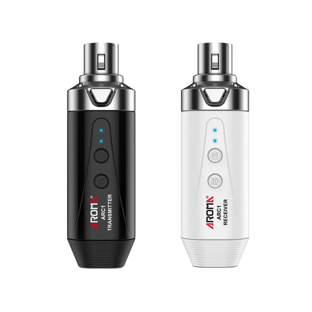 guitar-accessories-Aroma ARC1 5.8GHZ Wireless Microphone System Rechargeable Transmitter Receiver 4 Channels Audio Mic Transmitter Receiver-HOB1752049 1