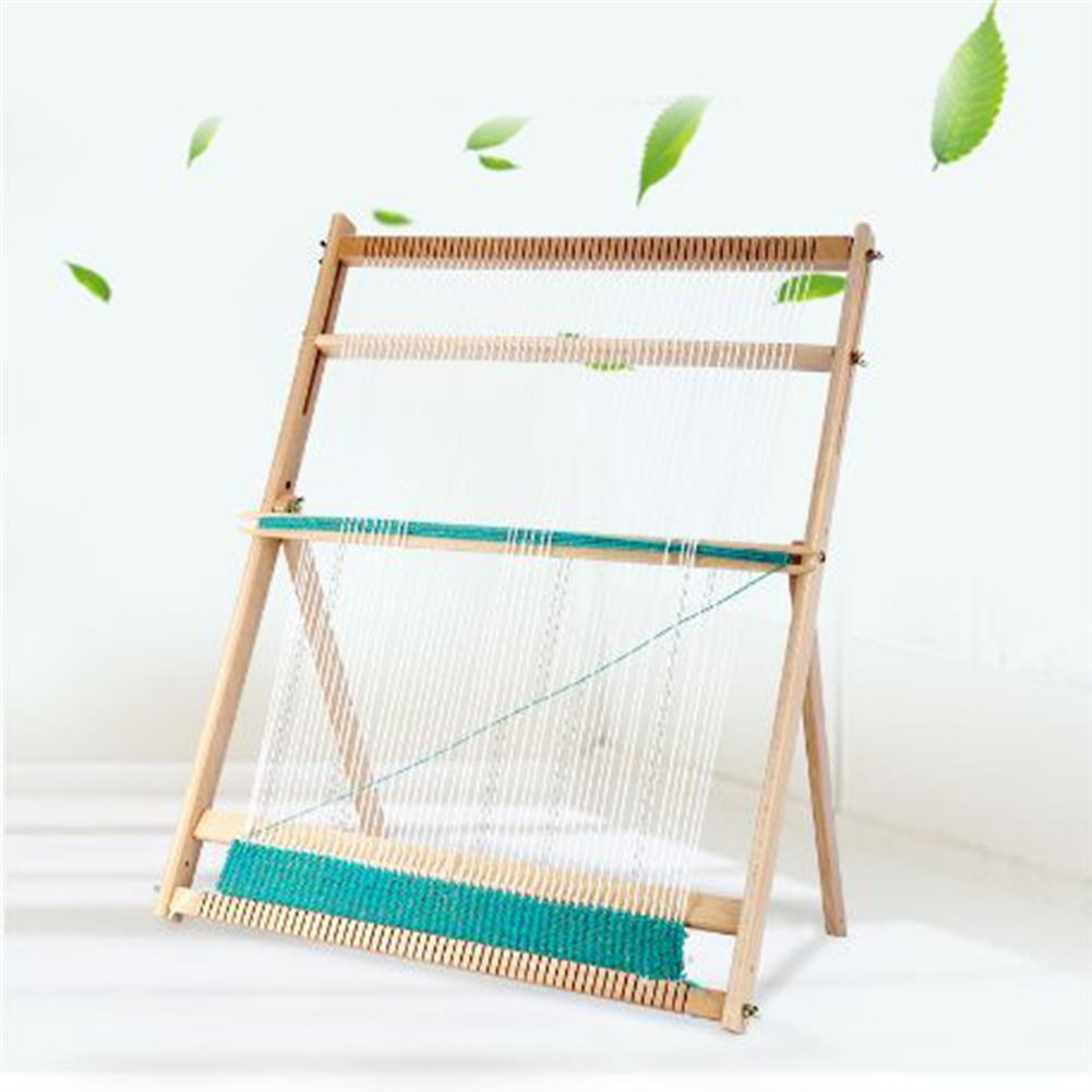 puzzle-game-toys Standing DIY Woven Set Weaving Loom Kit Looms Wooden Tapestry Hand-Knitted Machine HOB1753097 3