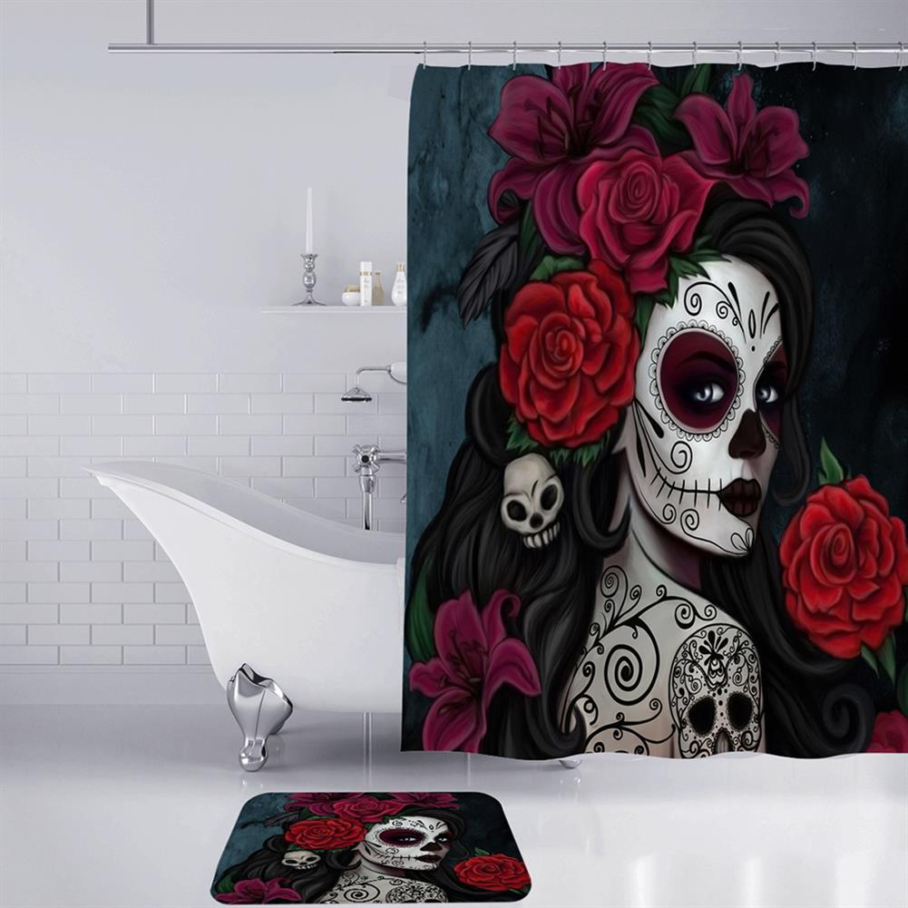 decoration 3D Printed Waterproof Polyester Shower Bath Curtain Set of Halloween Woman for Holidays & Party Gadgets HOB1754675