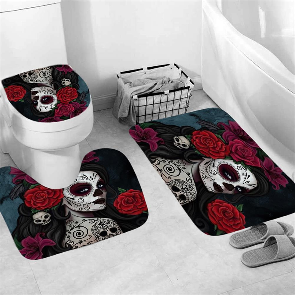 decoration 3D Printed Waterproof Polyester Shower Bath Curtain Set of Halloween Woman for Holidays & Party Gadgets HOB1754675 3