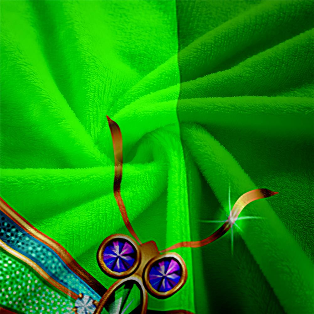 decoration Polyester Thick Blanket 3D Green Dragonfly Pattern for Halloween Christmas Decoration HOB1754682 3