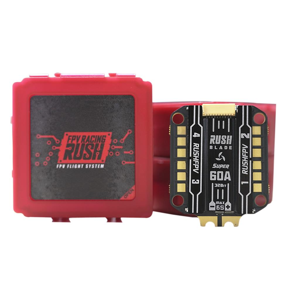 multi-rotor-parts 30.5*30.5mm RUSH BLADE SUPER Edition 60A F350 168MHz 96K PWM 3S~6S BLHeli_32 4 in 1 ESC for RC FPV Racing Drone HOB1756161 2