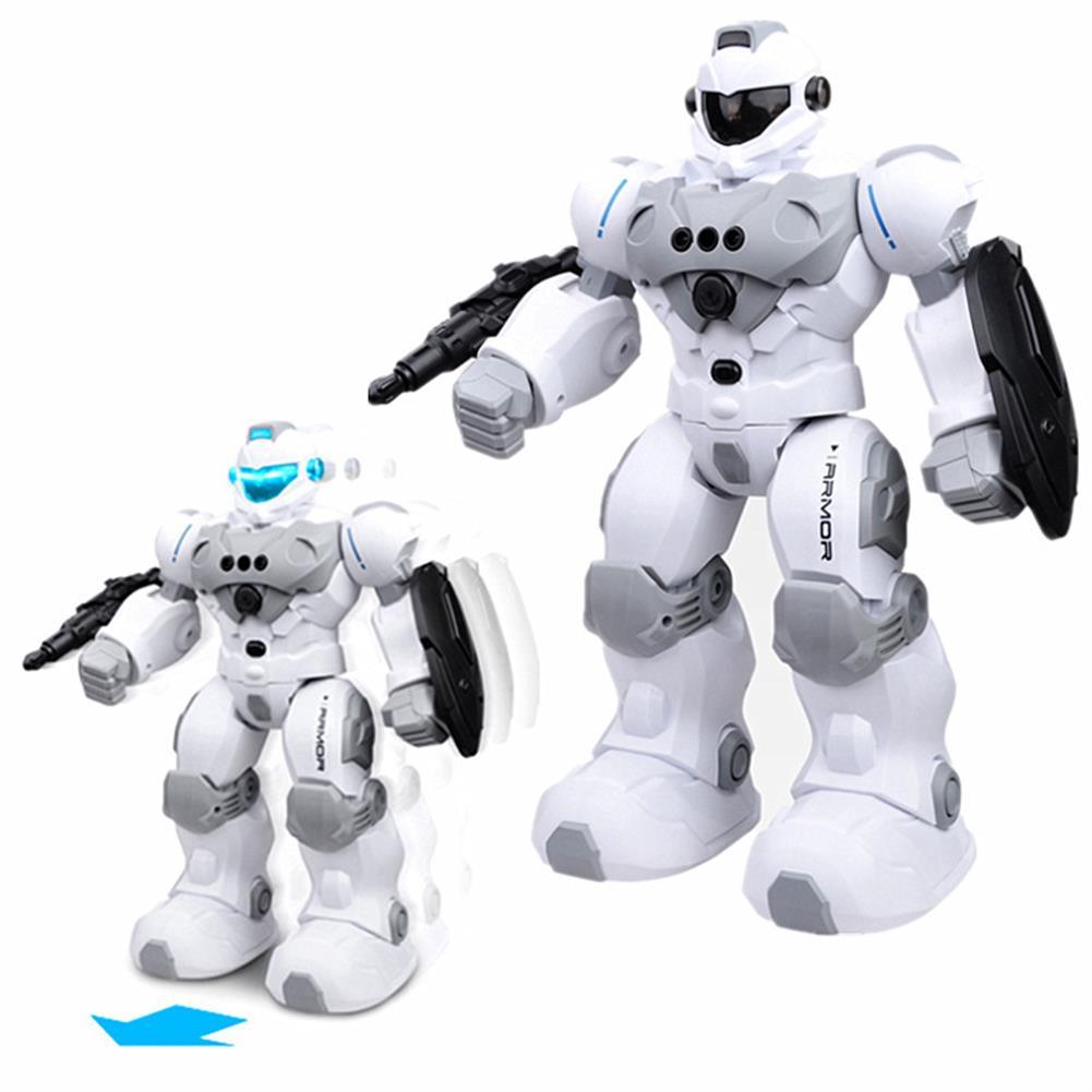 robot-toys FENGTAI intelligent Police Robot Programmable Gesture Sensing Storytelling USB Charging RC Robot HOB1757180 1