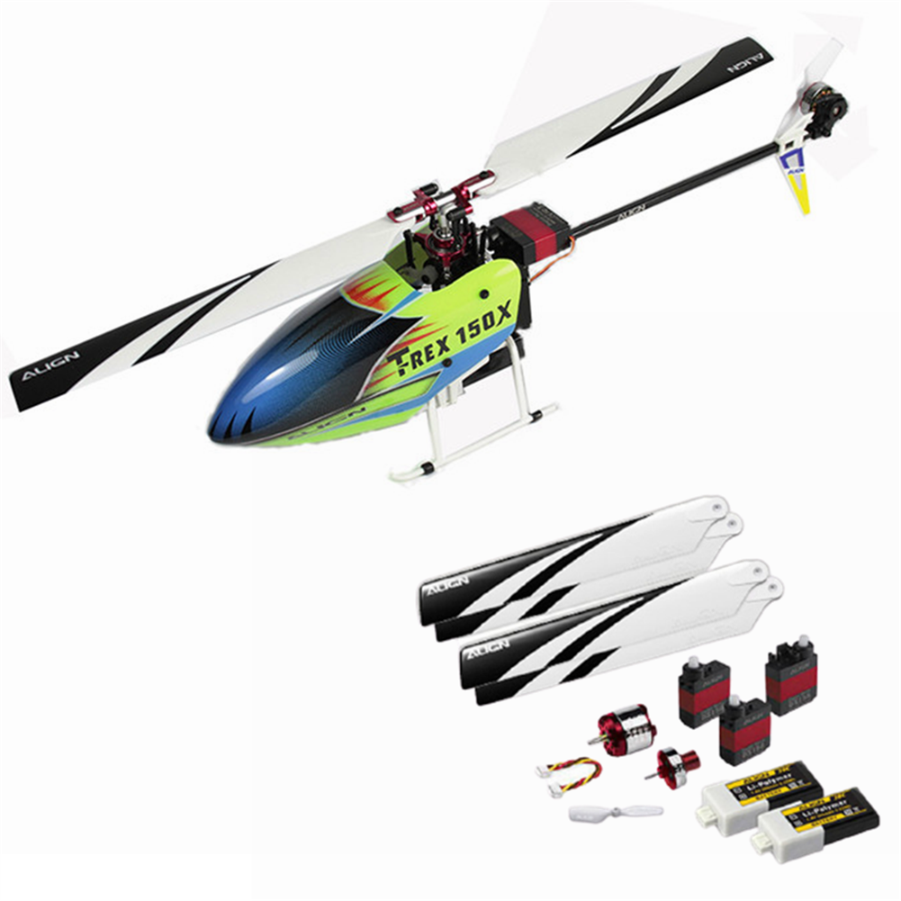 rc-helicopter ALIGN T-REX 150X TA 2.4G 6CH Dual Brushless Motor 3D Flying RC Helicopter PNP with 150 Carry Box HOB1758836