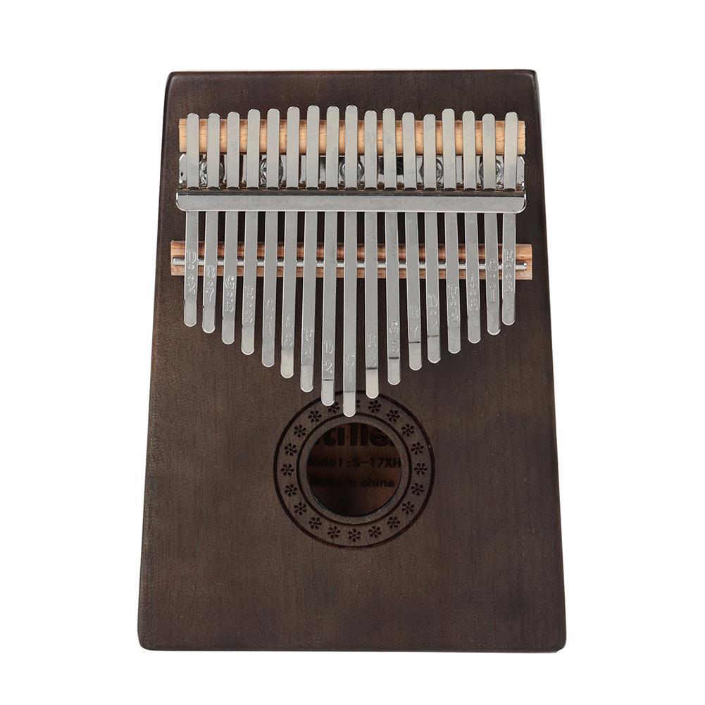 kalimba 17 Key Kalimba Finger Piano Mbira Mahogany Keyboard Wood Musical instrument HOB1758838