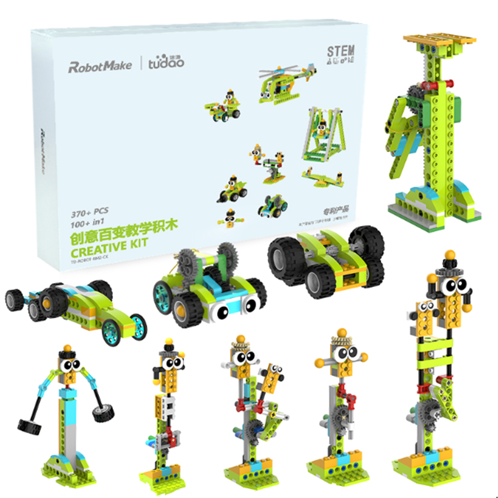 robot-toys RobotMake Tudao Creative Variety Children's Puzzle Building Blocks intelligent Robot Assembling Machinery Master Building Block Toys HOB1760293