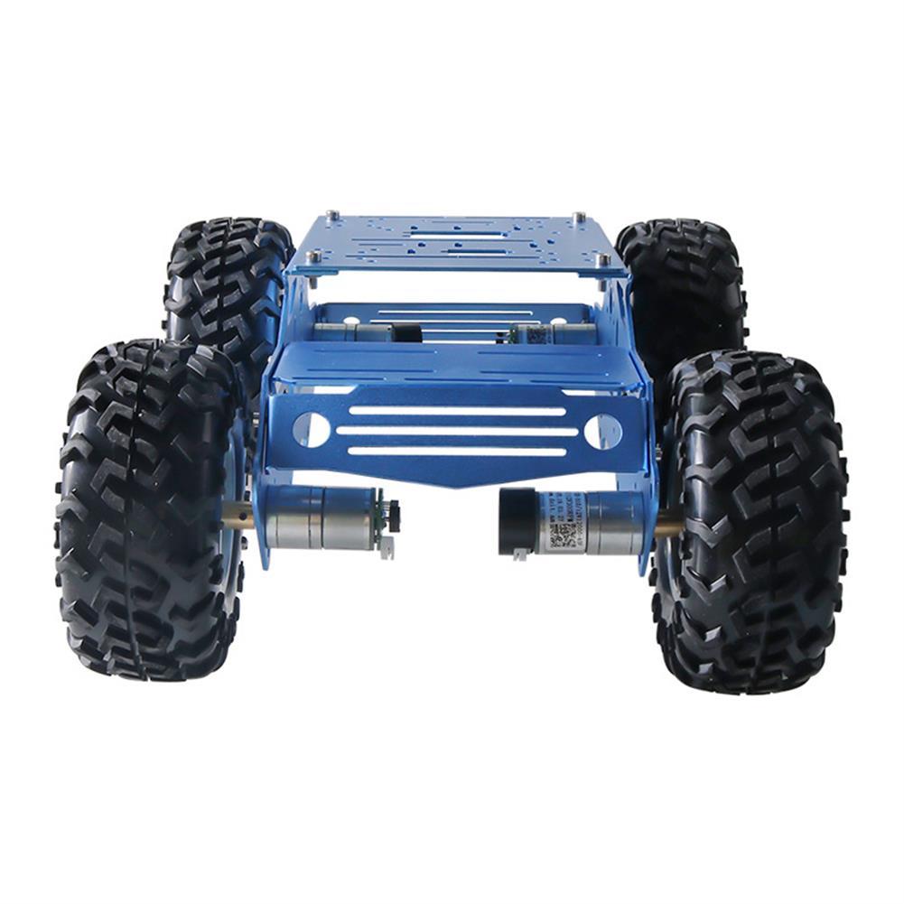smart-robot-car C100 4WD Metal intelligent Robot Car Chassis Kit 130mm Rubber Wheel 12V 180rpm Motor HOB1760380