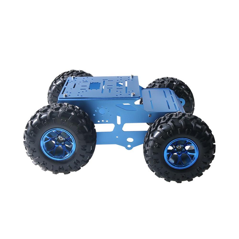 smart-robot-car C100 4WD Metal intelligent Robot Car Chassis Kit 130mm Rubber Wheel 12V 180rpm Motor HOB1760380 1