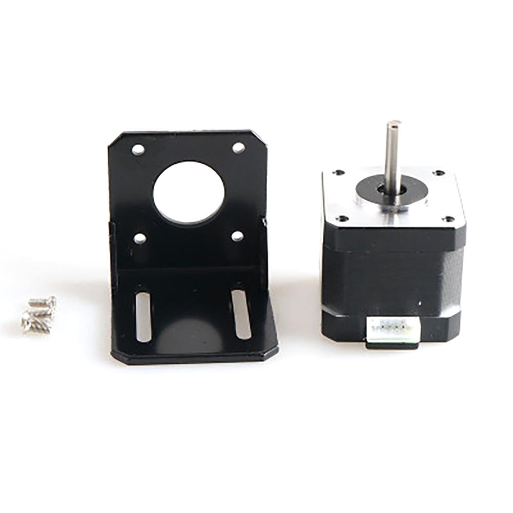 robot-parts-tools 42 Stepper Motor with Motor Fixing Bracket Kit for Smart Robot Car Chassis HOB1763030 1