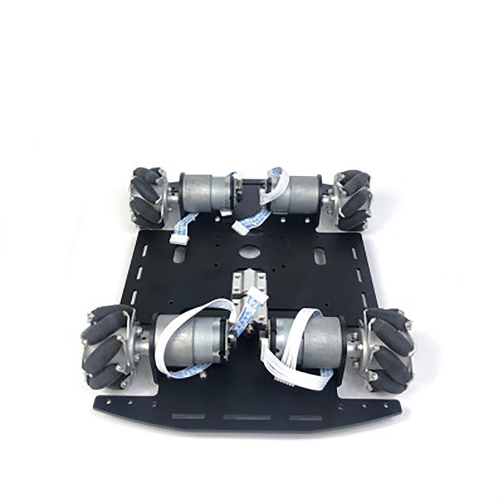 smart-robot-car Mecanum Wheel Single-layer Trolley Chassis Omni-Wheel Smart Car Metal Chassis for Robot Racing Car HOB1763096 3