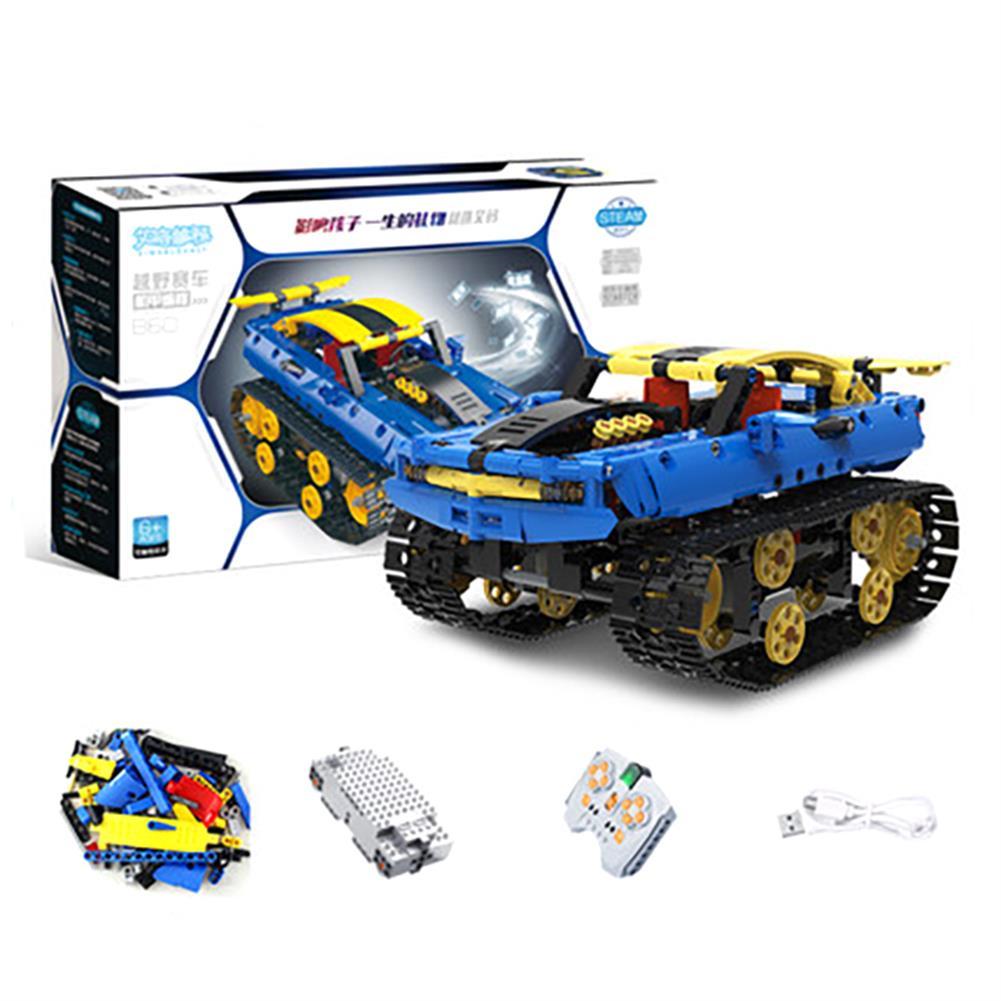 robot-toys 572PCS MoFun B60 DIY 2.4G Block Building Programmable APP/Stick Control Smart RC Robot Car HOB1763126