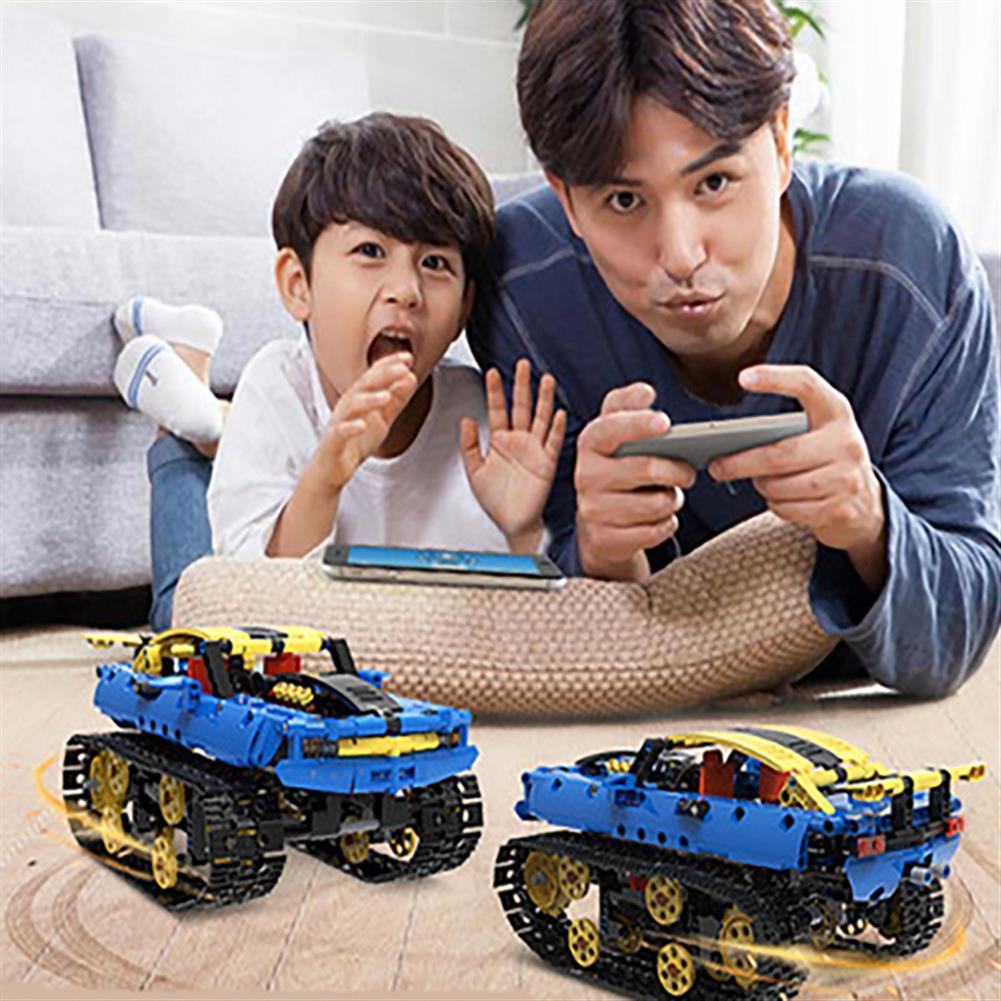 robot-toys 572PCS MoFun B60 DIY 2.4G Block Building Programmable APP/Stick Control Smart RC Robot Car HOB1763126 1