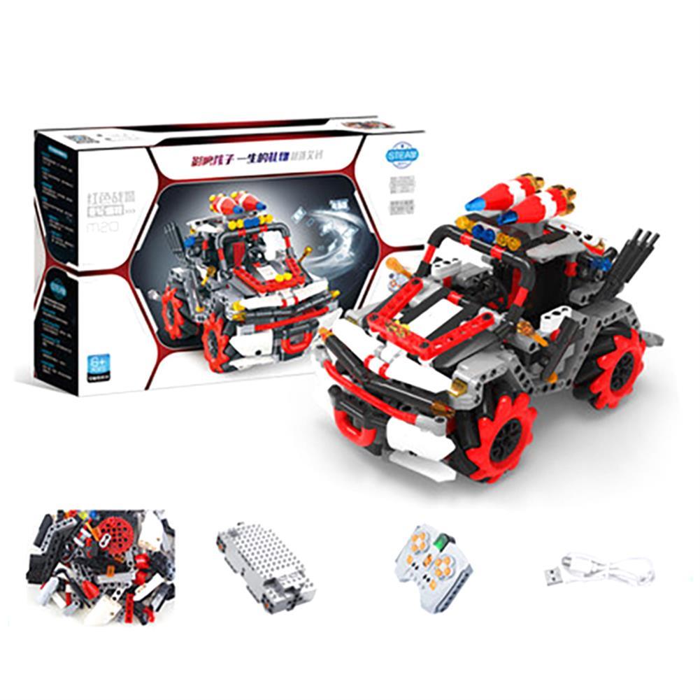 robot-toys 491PCS MoFun M20 DIY 2.4G Block Building Programmable APP/Stick Control Smart RC Robot Car HOB1763145