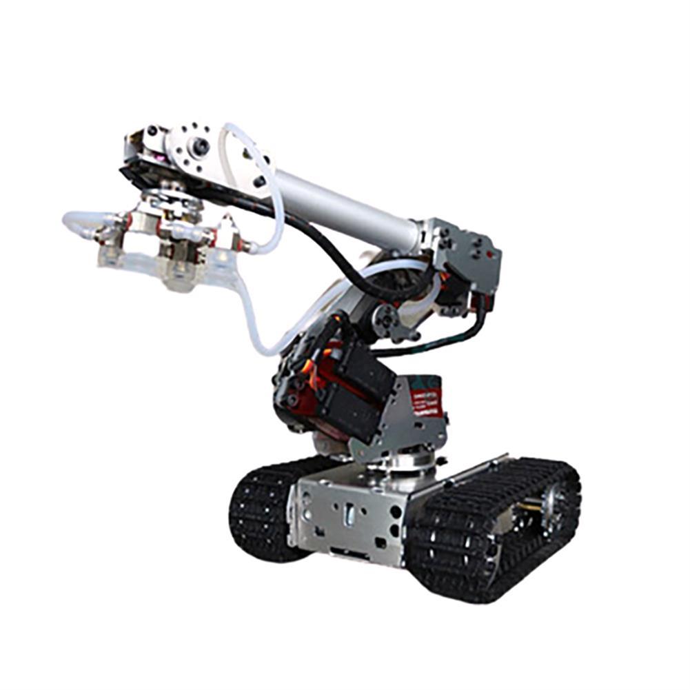 robot-arm-tank 6 DOF Metal Aluminum Alloy Mechanical Arm 6-axis Robot 201 Arduinos with Tank Crawler Chassis HOB1763724