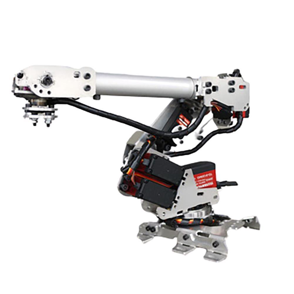 robot-arm-tank 6 DOF Metal Aluminum Alloy Mechanical Arm 6-axis Robot 201 Arduinos with Tank Crawler Chassis HOB1763724 1