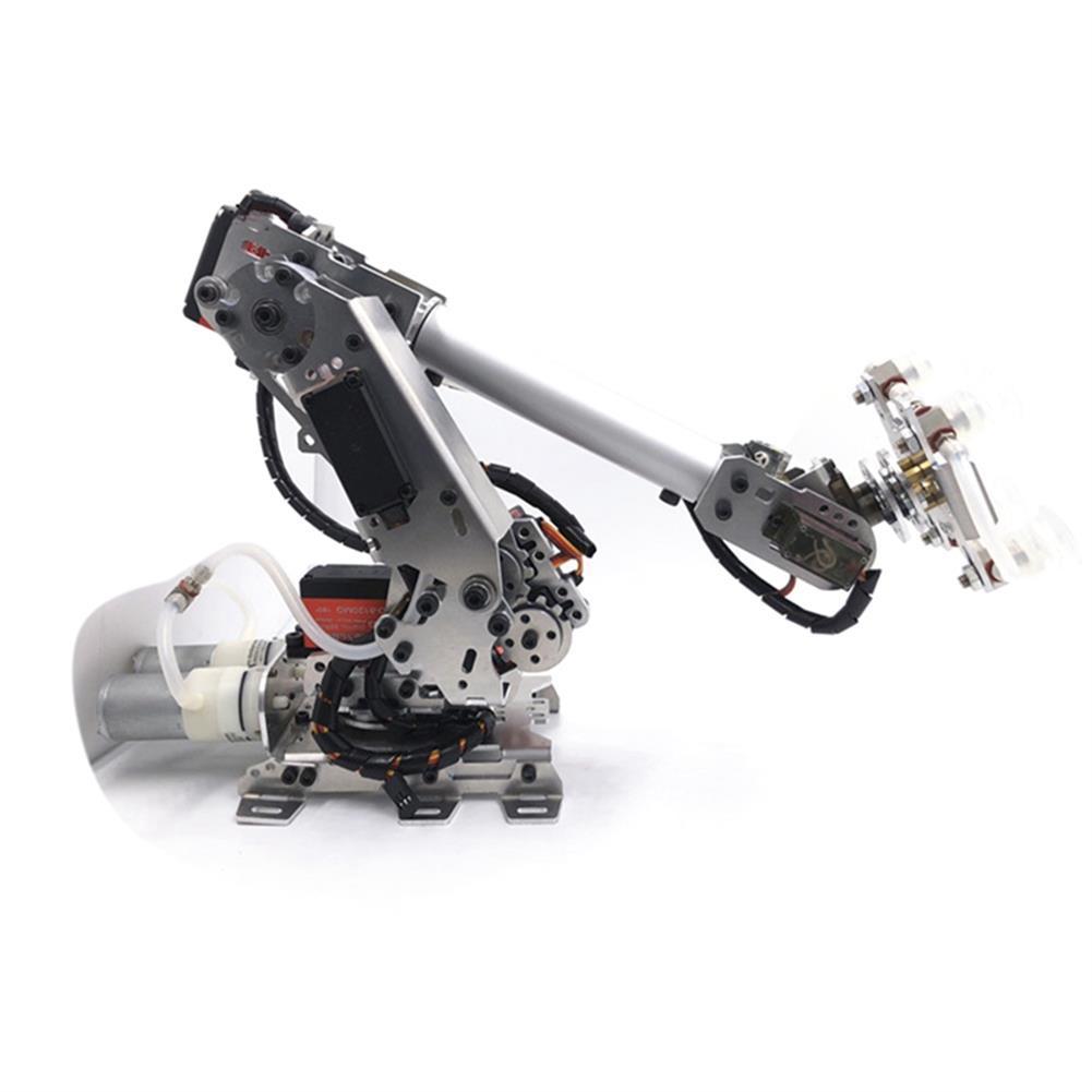 robot-arm-tank 6 DOF Metal Aluminum Alloy Mechanical Arm 6-axis Robot 201 Arduinos with Tank Crawler Chassis HOB1763724 2