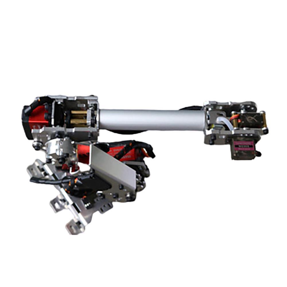 robot-arm-tank 6 DOF Metal Aluminum Alloy Mechanical Arm 6-axis Robot 201 Arduinos with Tank Crawler Chassis HOB1763724 3