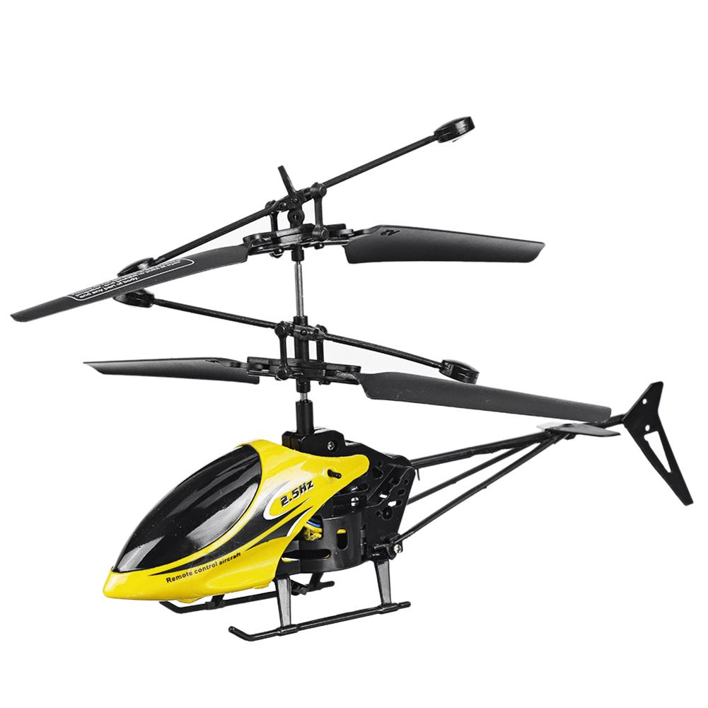 rc-helicopter 2CH Fall Resistant Remote Control Mini Helicopter with LED Light for Children Outdoor Toys HOB1764028