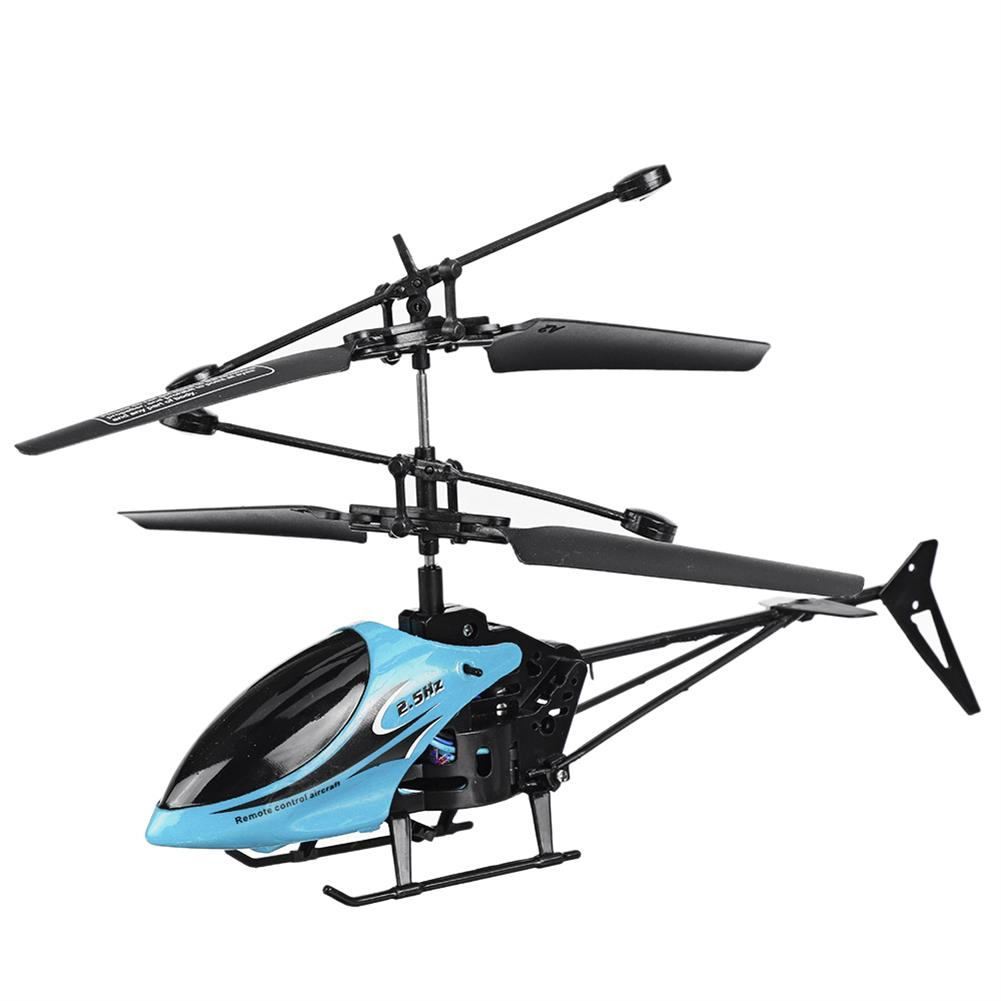 rc-helicopter 2CH Fall Resistant Remote Control Mini Helicopter with LED Light for Children Outdoor Toys HOB1764028 1