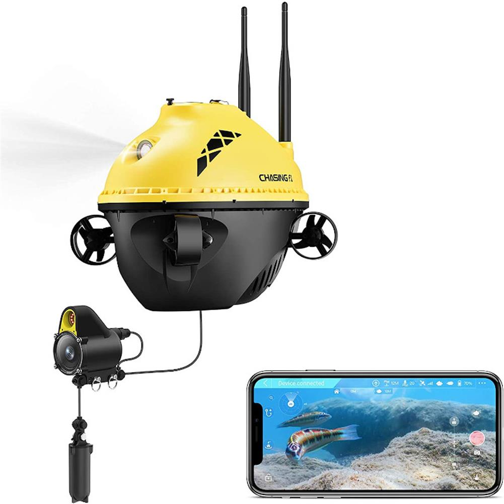 underwater-drone-scooter CHASING F1 Fish Finder Drone 28m Working Depth 6 Hours Runtime Wireless Underwater Fishing Camera HOB1764382