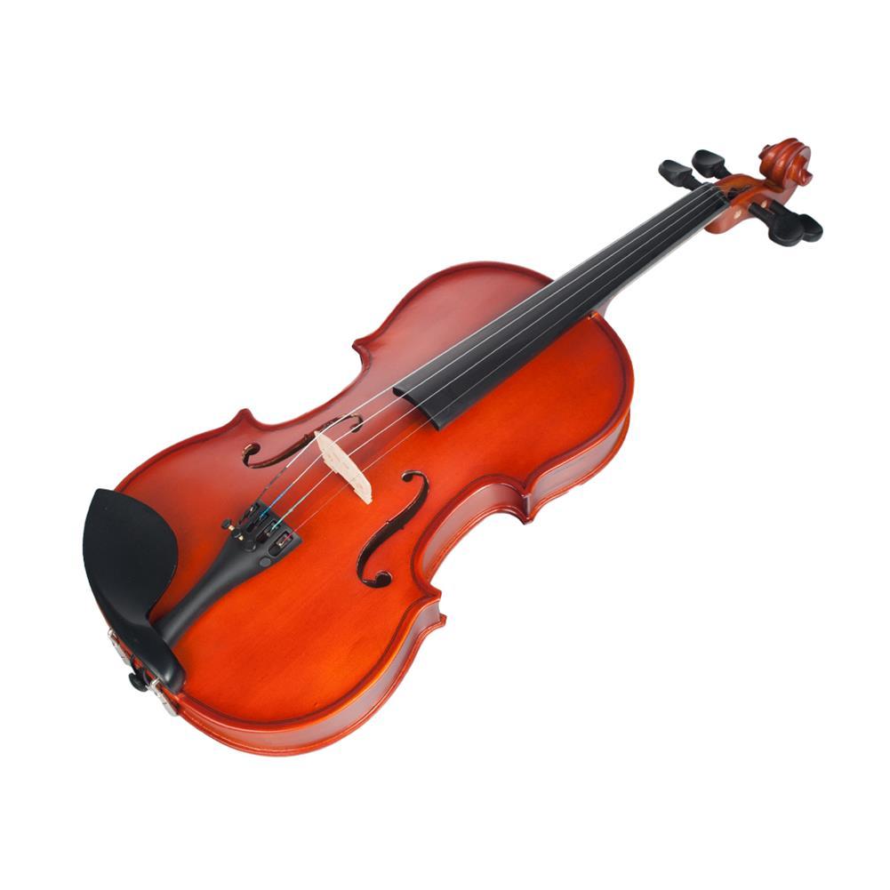 violin Naomi 1/2 Violin High Gloss/Matte Finishing Violin Student Violin W/Case+Bow for Biginner Violin Learner Natural Color Violin HOB1766311 1