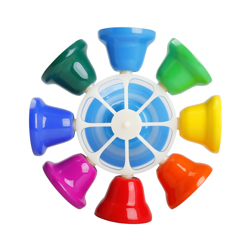 orff-instruments SY-66 Orff instrument 8 Tone Rotating Bell Melody Bell Touch Bell Musical instrument with Knocking Stick HOB1768147 2