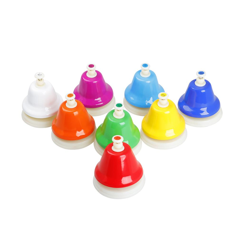 orff-instruments SY-67 Orff instruments Colorful 8 Tone Bell Hand Bell Set HOB1768153 2