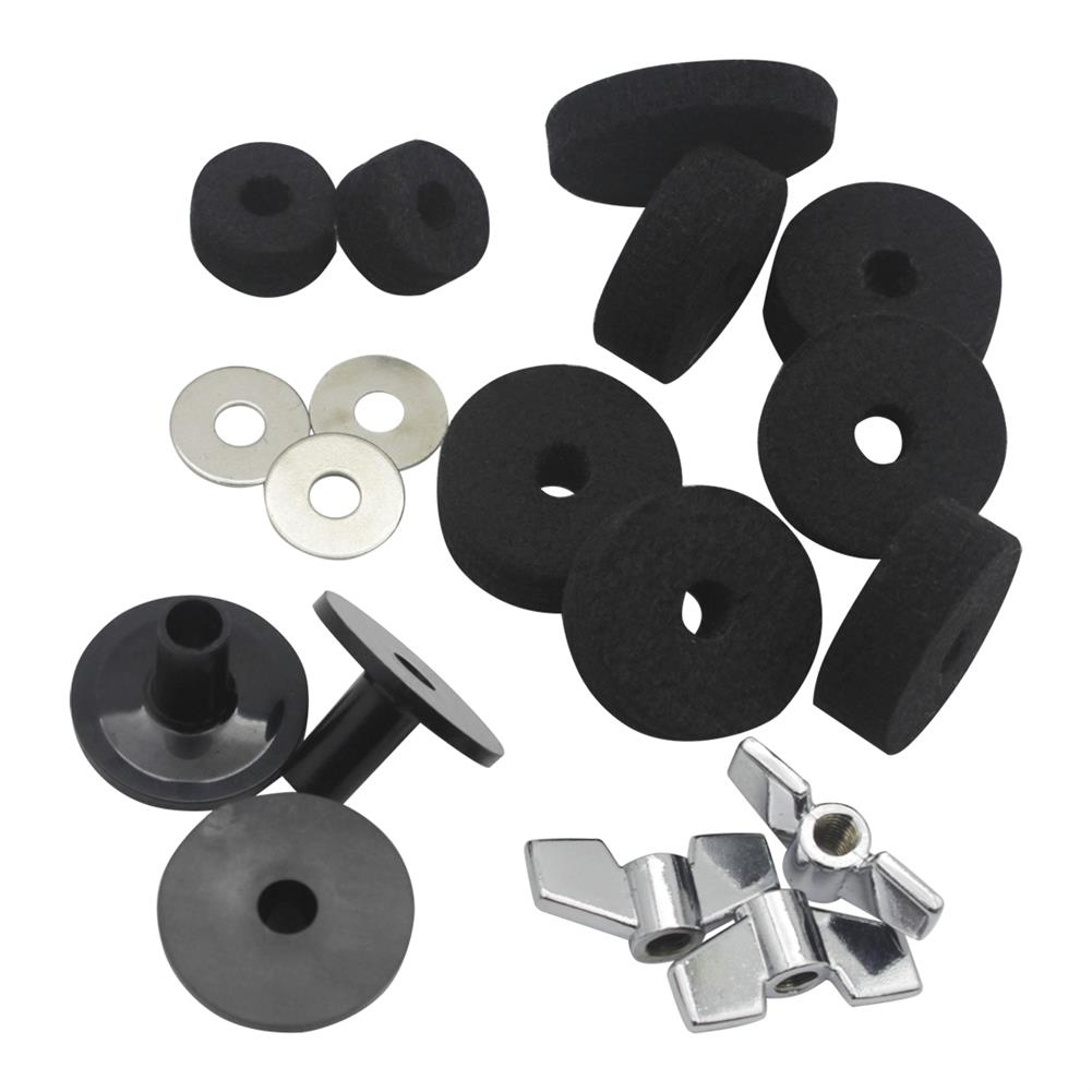 percussion-accessories DS-18 Drum Kit Accessories 18 Sets Hair Pad Knob Screw Gasket Casing for Drum Accessories HOB1768489