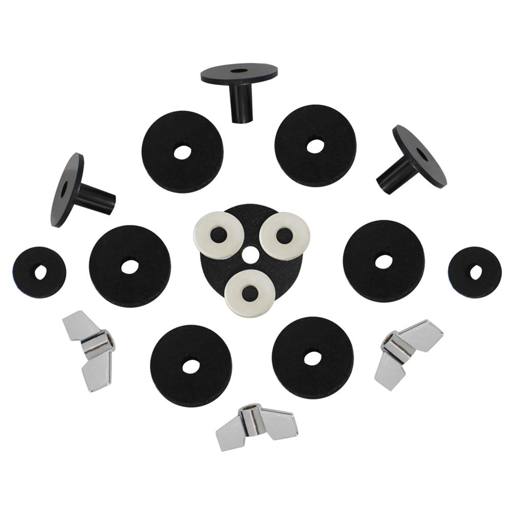 percussion-accessories DS-18 Drum Kit Accessories 18 Sets Hair Pad Knob Screw Gasket Casing for Drum Accessories HOB1768489 1