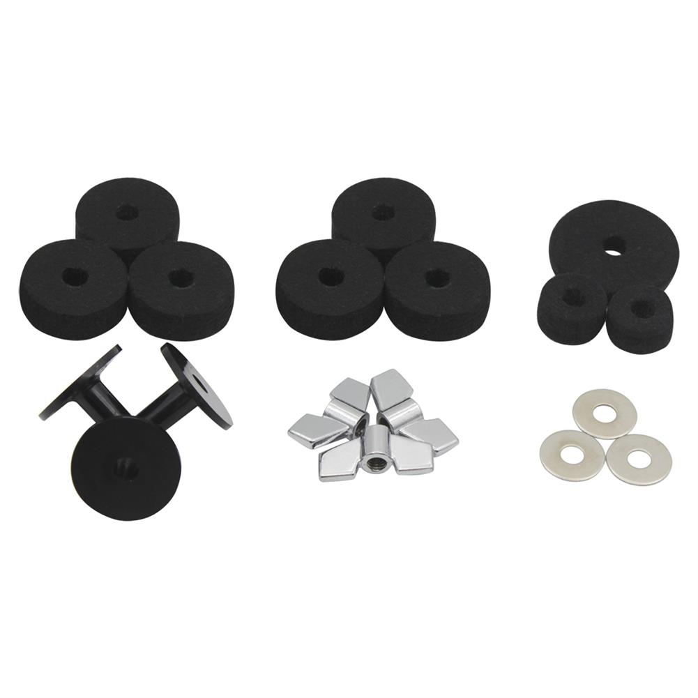 percussion-accessories DS-18 Drum Kit Accessories 18 Sets Hair Pad Knob Screw Gasket Casing for Drum Accessories HOB1768489 3