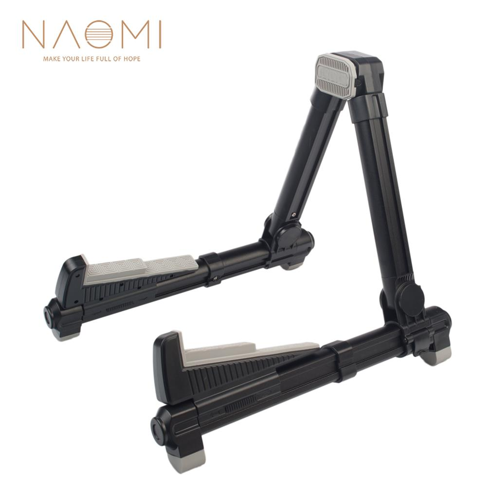 guitar-accessories-NAOMI Adjustable Guitar Stand Folding Frame Holder for Electric Guitar Ukulele Bass instrument Stand Guitar Parts Accessories-HOB1768886