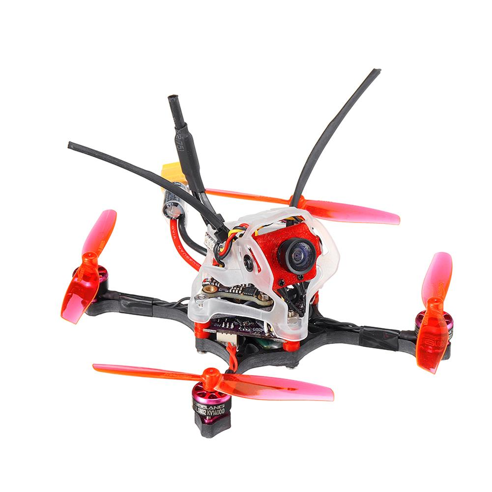fpv-racing-drone 35g GEELANG WASP V2 100mm Wheelbase Play F4 Whoop 2S FC 4 in 1 ESC Toothpick FPV Racing Drone BNF with 1/4 COMS Sensor Camera HOB1770128