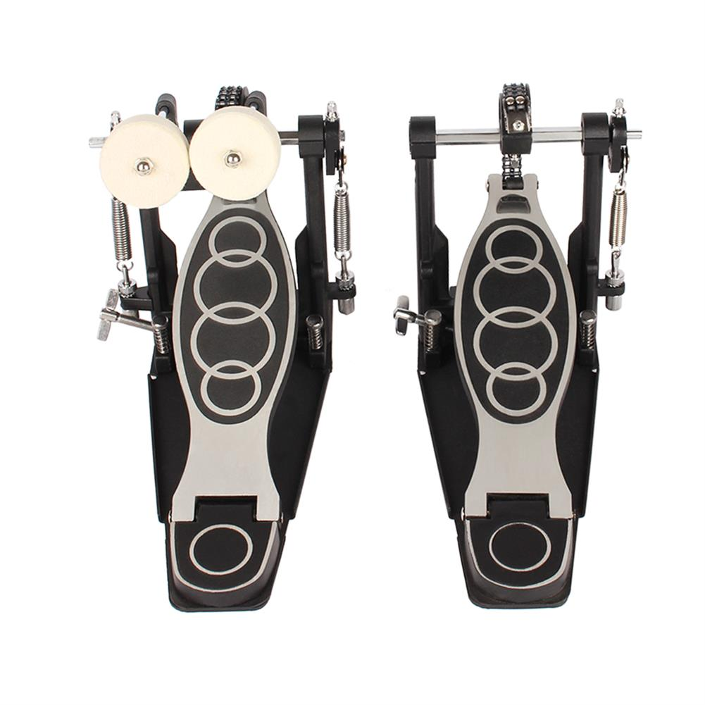 percussion-accessories Drum Set Double Bass Pedal Double Hammer Pedal for Drum Musical instrument Accessories HOB1771685 1