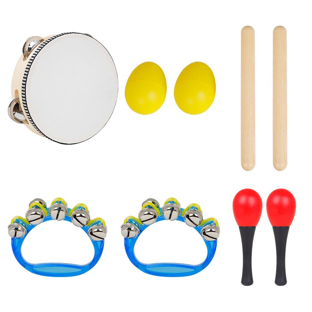 orff-instruments SY-71 Orff Musical instrument 5 Set with Tambourine Sand Egg Sand Hammer Rhythm Stick Hand Bell HOB1771752