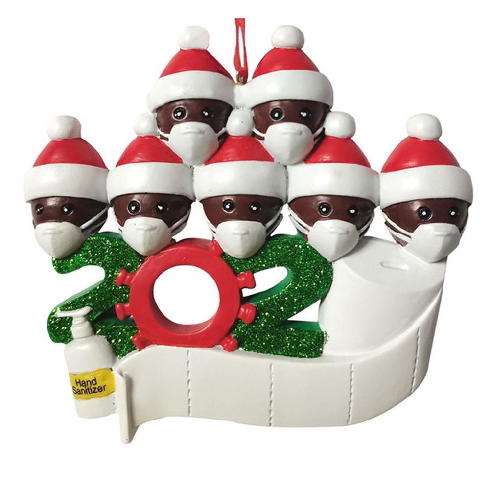 decoration 2020 Christmas Figurine Ornaments Xmas Tree Santa Claus Black Snowman Pendants Thanksgiving for Gift Home Decorations HOB1772675