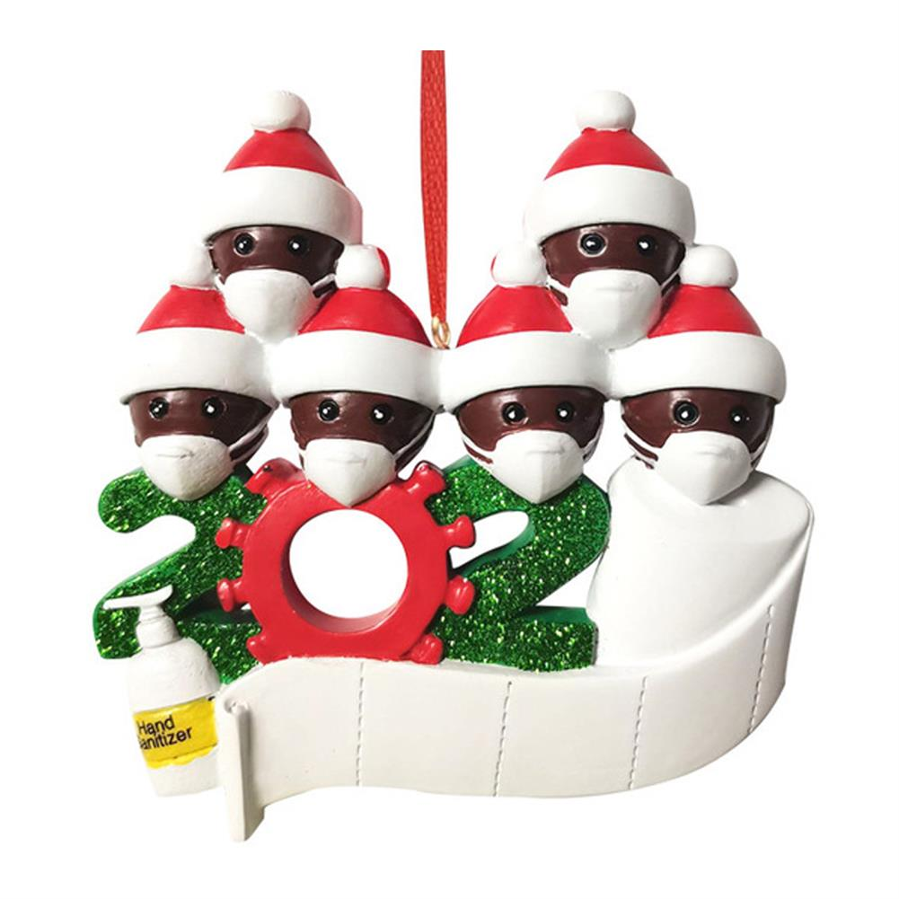decoration 2020 Christmas Figurine Ornaments Xmas Tree Santa Claus Black Snowman Pendants Thanksgiving for Gift Home Decorations HOB1772675 1