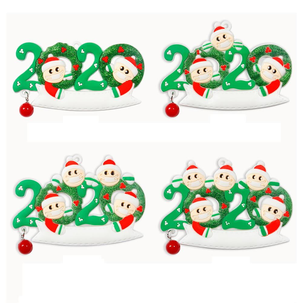 decoration 2020 Christmas Family Figurine Ornaments Xmas Tree Santa Claus Snowman Pendants Thanksgiving Toys with Bells for Gift Home Decorations HOB1772676