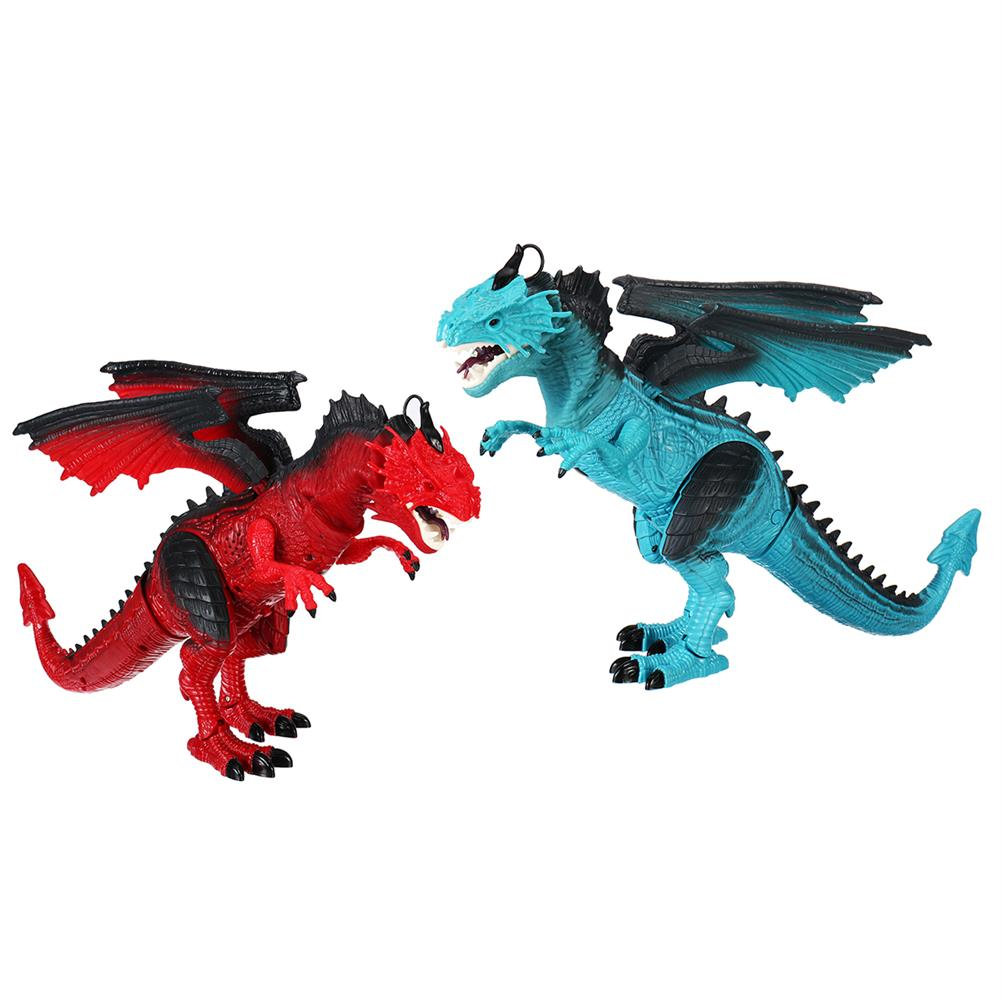 diecasts-model-toys Remote Control 360 Rotate Spray Dinosaur with Sound LED Light and Simulate Flame Diecast Model Toy for Kids Gift HOB1773231