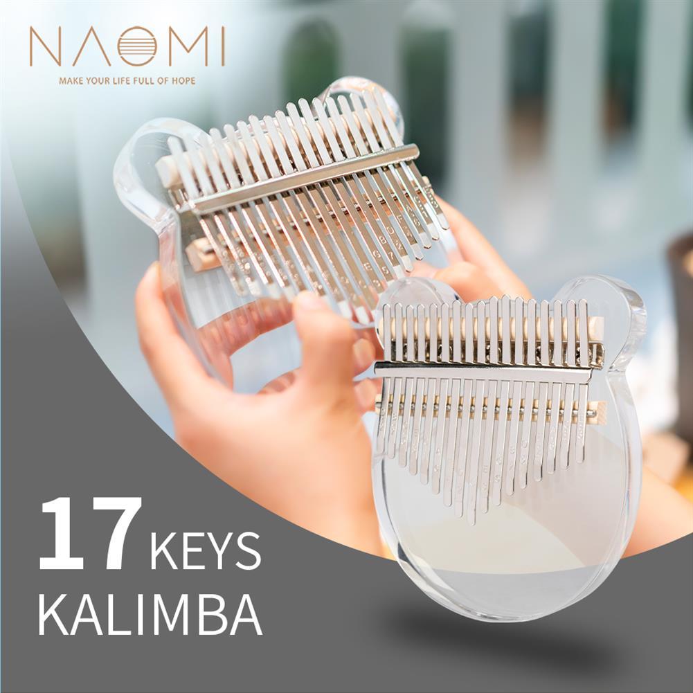 kalimba NAOMI K02-B 17 Keys Kalimba Crystal Thumb Piano for Kids HOB1774236