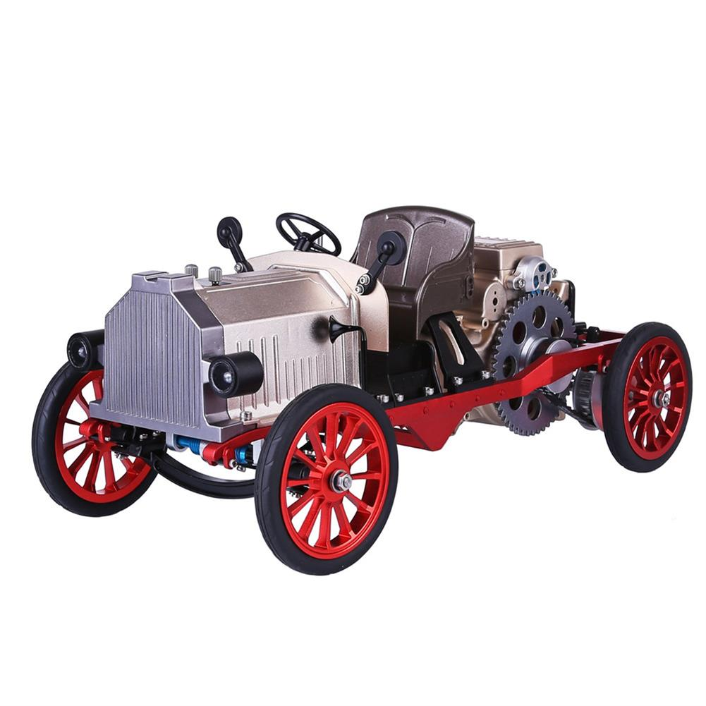 science-discovery-toys Teching Assembly Vintage Classic Car Metal Mechanical Model Toy with Electric Engine Toys HOB1774891