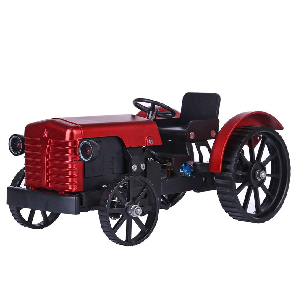 science-discovery-toys Teching Assembly Simulative Mini APP Controlled Electric Metal Red Tractor Model Toy Gift HOB1774892
