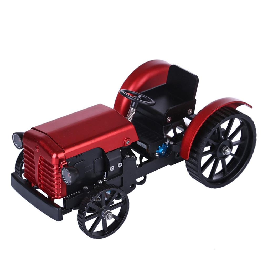 science-discovery-toys Teching Assembly Simulative Mini APP Controlled Electric Metal Red Tractor Model Toy Gift HOB1774892 1
